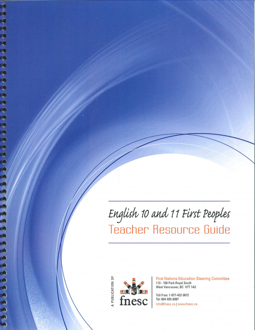 Free PDF. This document is designed to provide support for teachers of English 10 and 11 First Peoples.  It has been developed by the First Nations Education Steering Committee.