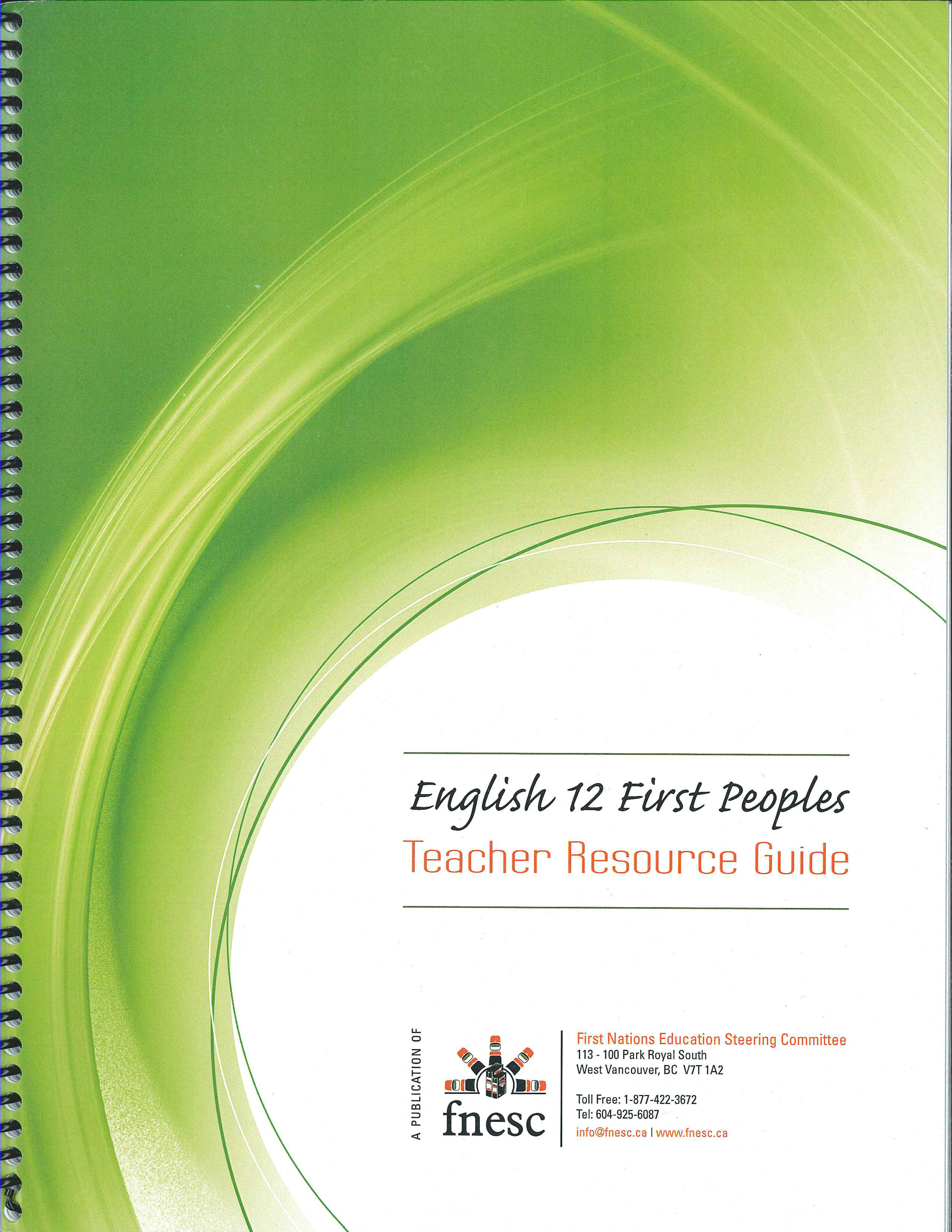 Free PDF. This document is designed to provide support for teachers of English 12 First Peoples.  It has been developed by the First Nations Education Steering Committee.